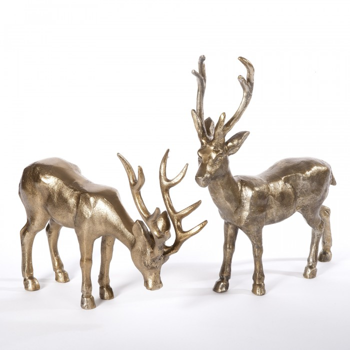 deko hirsch in antik bronze aus metall vegan4living. Black Bedroom Furniture Sets. Home Design Ideas